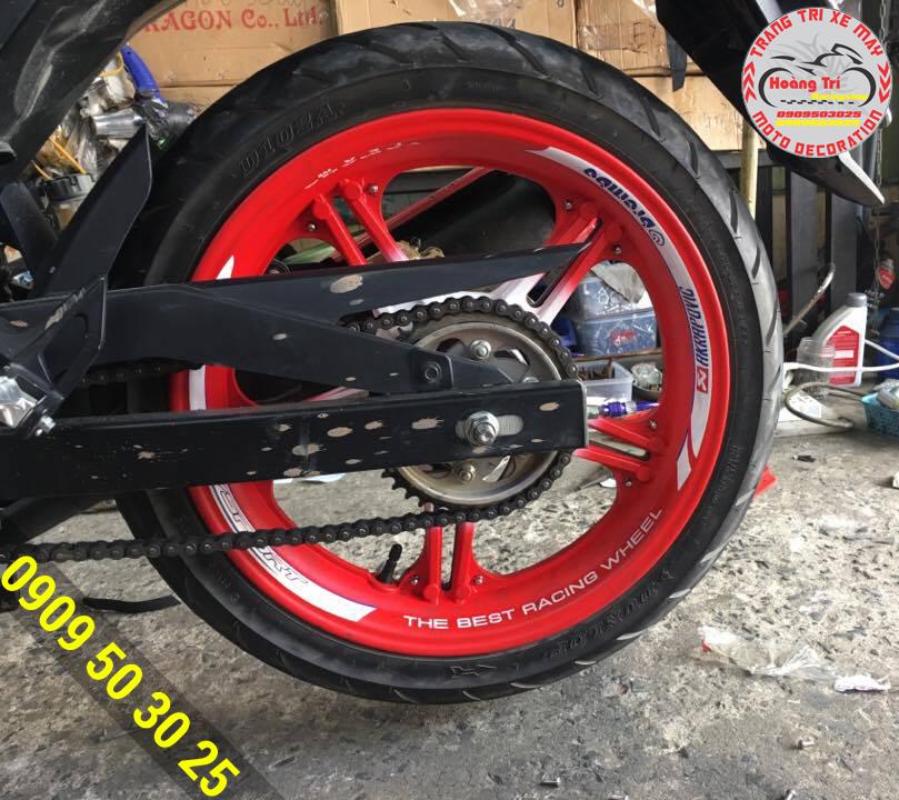 """Ốp mâm sau """"The Best Racing Wheel"""""""