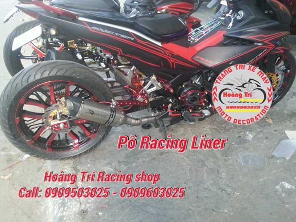 Pô Racing Line đã được gắn lên xe