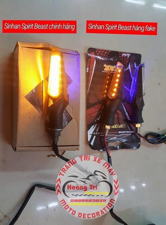 Độ sáng của đèn cũng đã thể hiện rõ nét giữa hàng fake và hàng thật