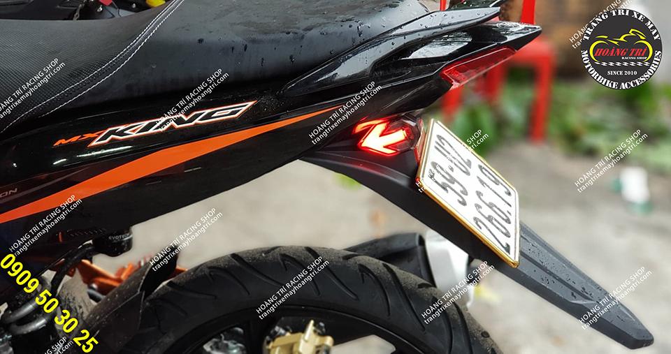 Xi nhan mũi tên được gắn cho Exciter 150 MX King