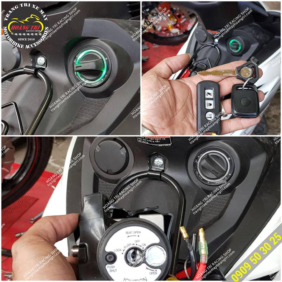 Lắp đặt khóa smartkey cho Exciter 150 2019 - Vẫn có thể sử dụng remote tìm xe của hãng