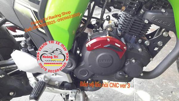 Cận cảnh ốp bên phải - Bảo vệ lốc máy CNC Version 3 cho xế Fz-S