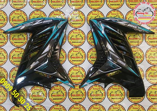 Cánh gà Fz150 đen xanh