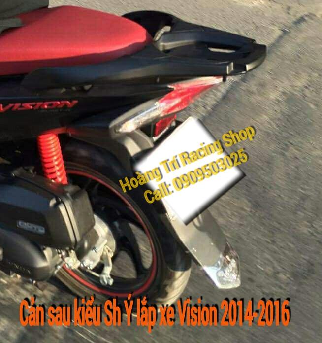 cản sau - tay dắt xe kiểu Sh Ý cho xe vision 3