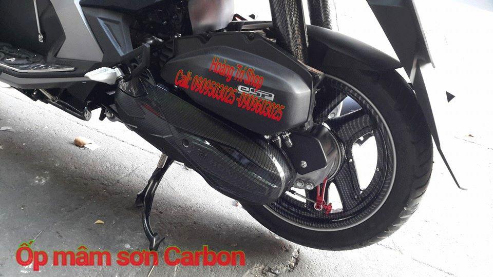 Ốp mâm sơn Carbon cho xe air blade 2016 4