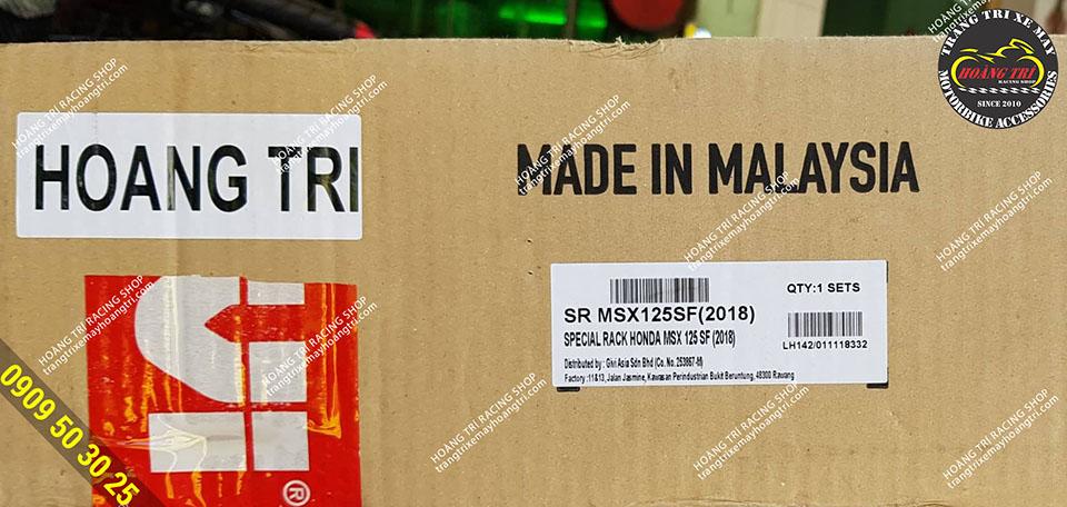 Baga sau MSX chính hãng Givi được nhập khẩu Malaysia