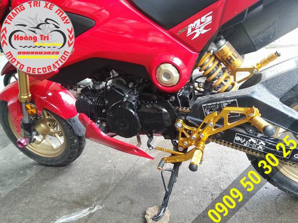 Bộ số gãy màu vàng nổi bật trên Honda MSX