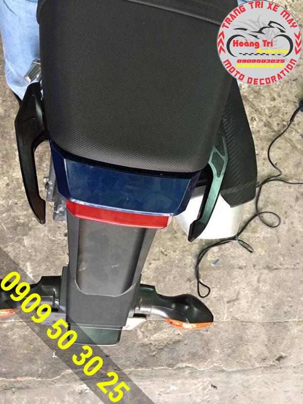 Độ cản sau Biker cho xế MSX thêm phần phong cách