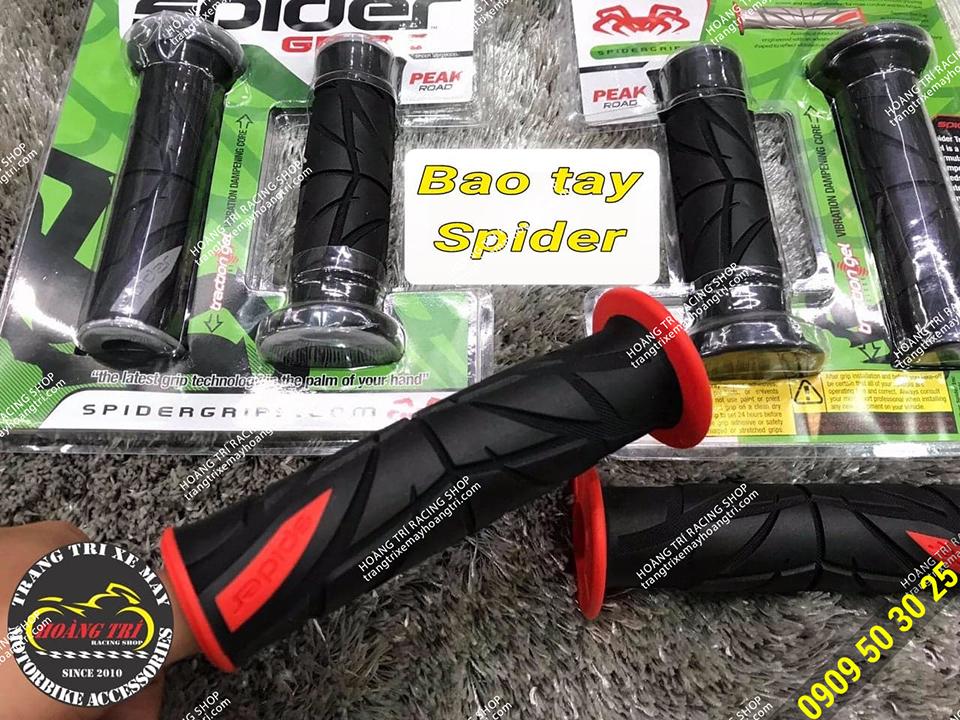 Cận cảnh bao tay Spider màu đỏ đẹp mắt