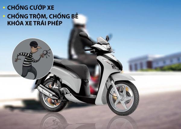 Chống cướp - chống trộm xe máy