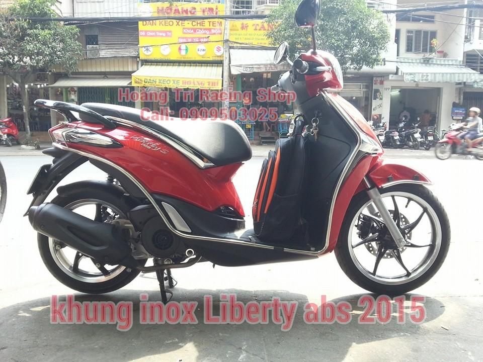 Khung bảo vệ inox xe Liberty 2015 cân đối