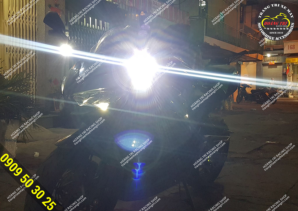 Test ánh sáng đèn Kenzo 40 trong đêm