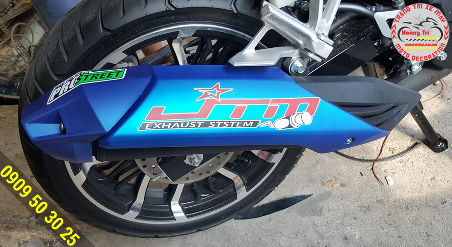 Ốp pô Indo Winner 150 màu xanh dương nổi bật