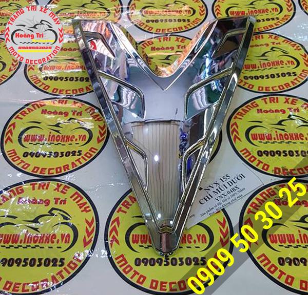 Chỉ mũi dưới mạ crom Yamaha NVX - đồ chơi xe NVX