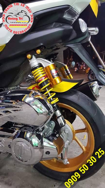 Chụp ốc kiểu Trusty màu vàng