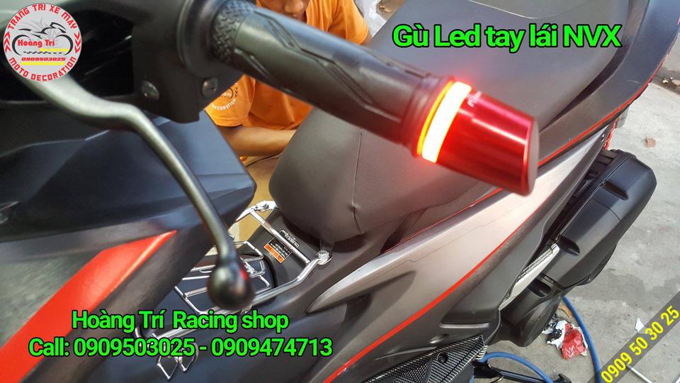 Cận cảnh NVX độ đèn led tay lái với màu sắc cá tính