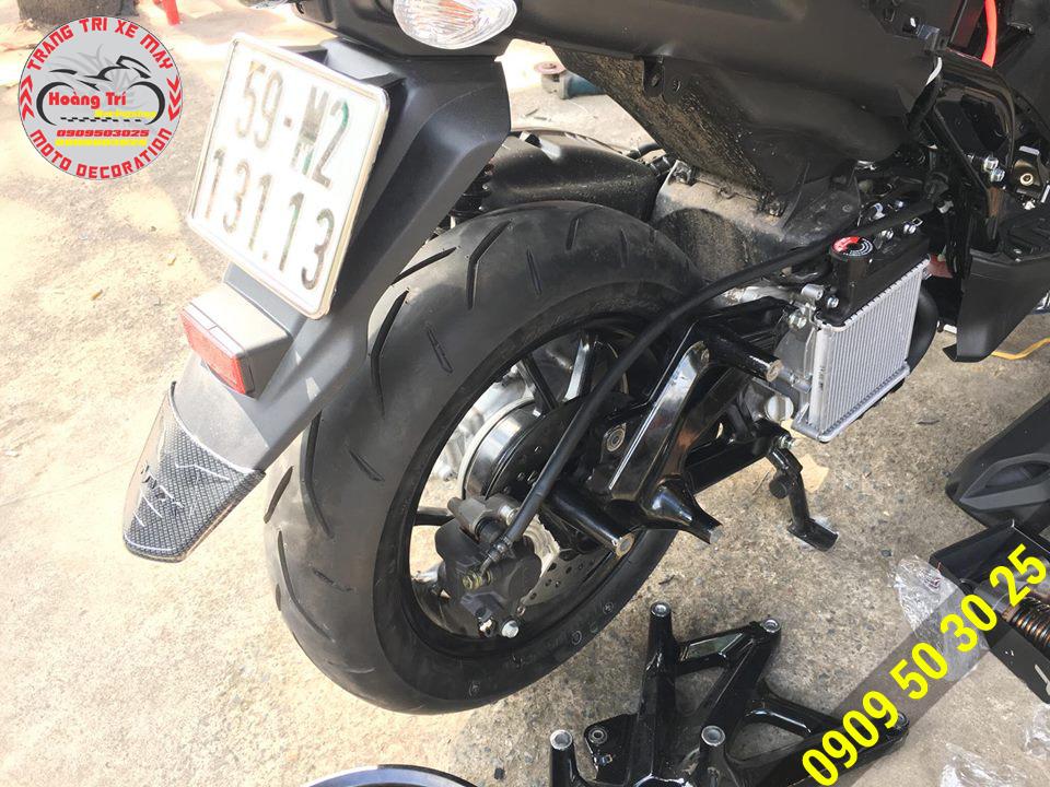 Đĩa sau đã được độ lên cho NVX 155cc
