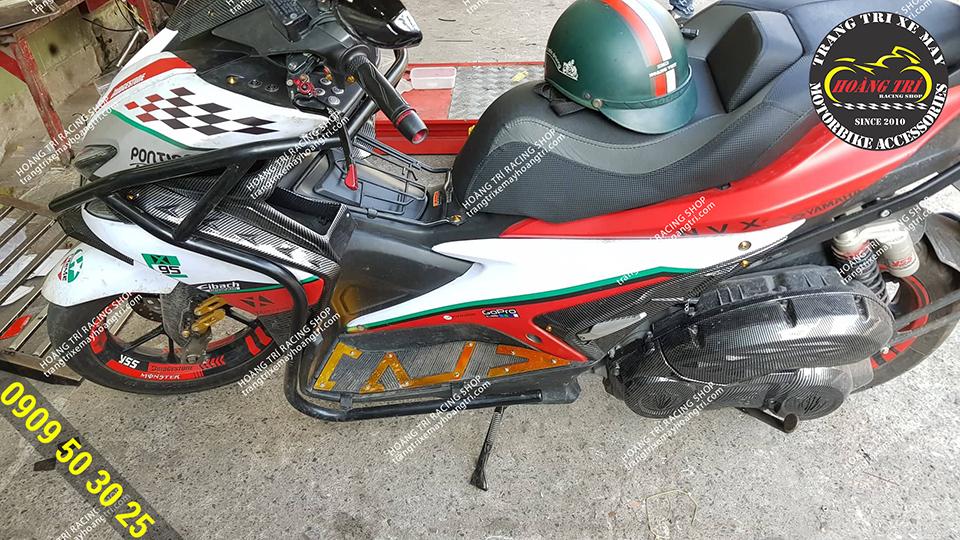 Thêm một xế cưng đến Hoàng Trí Racing Shop lắp đặt khung bảo vệ NVX