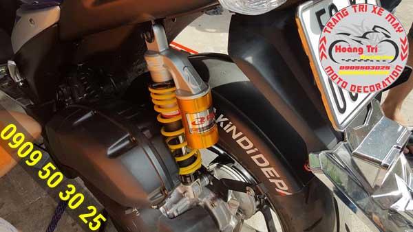 Phuộc Racing Boy bình dầu trên NVX 2017