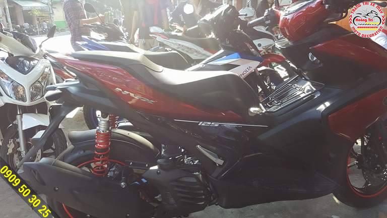 Phuộc sau Racing boy tông sẹc tông trên xế NVX 155cc