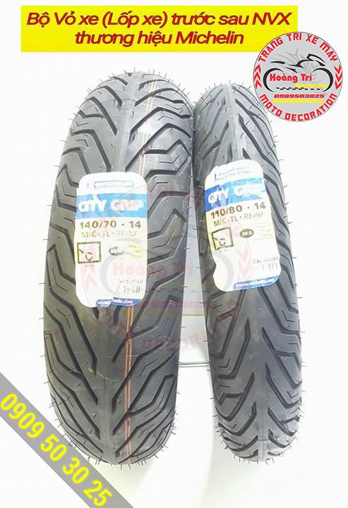 Cặp lốp xe trước sau chính hãng Michelin (lốp xe NVX)