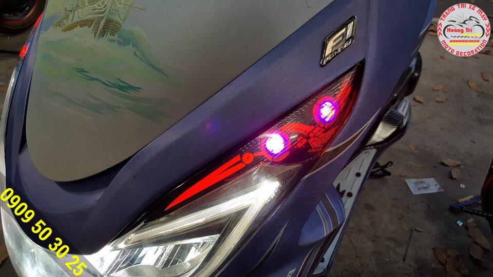 Hiệu ứng đổi màu cực kỳ độc đáo mà đèn led audi pcx có được