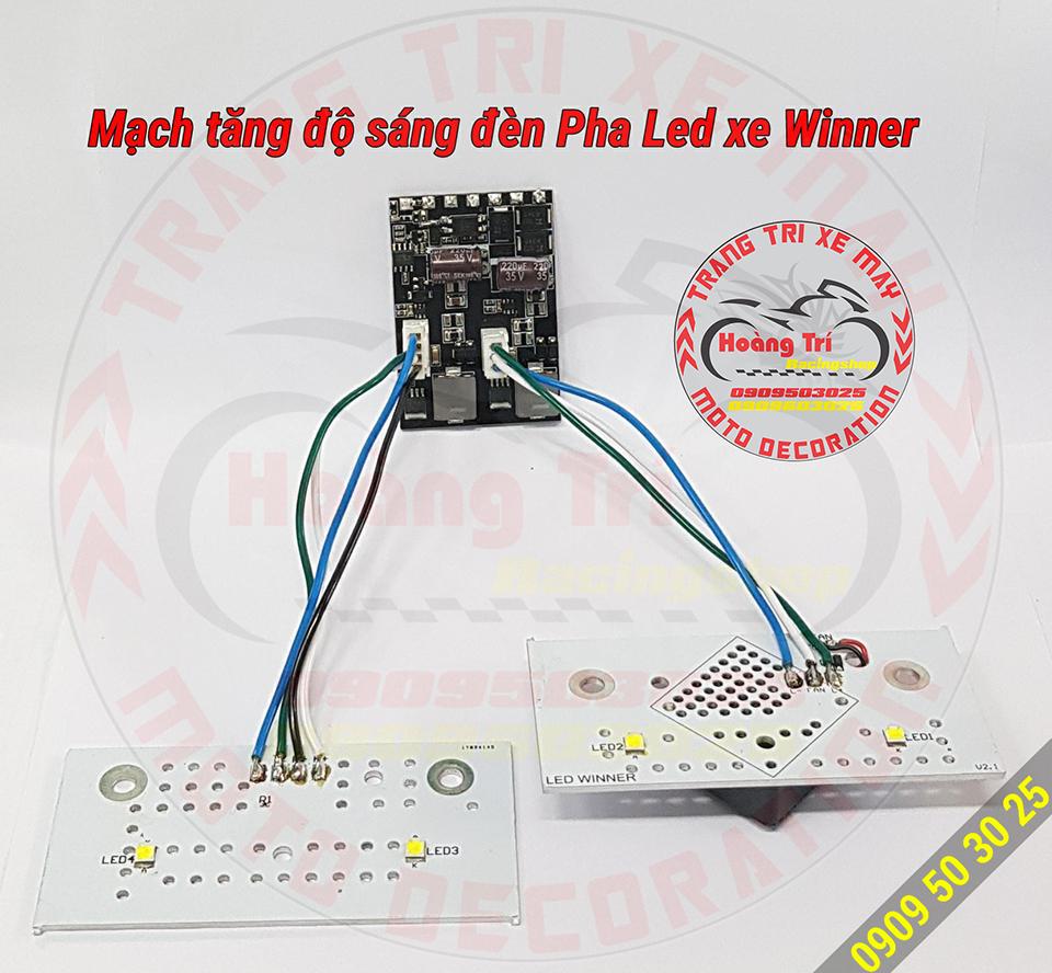 Bộ mạch làm tăng ánh sáng đèn pha LED xe Winner