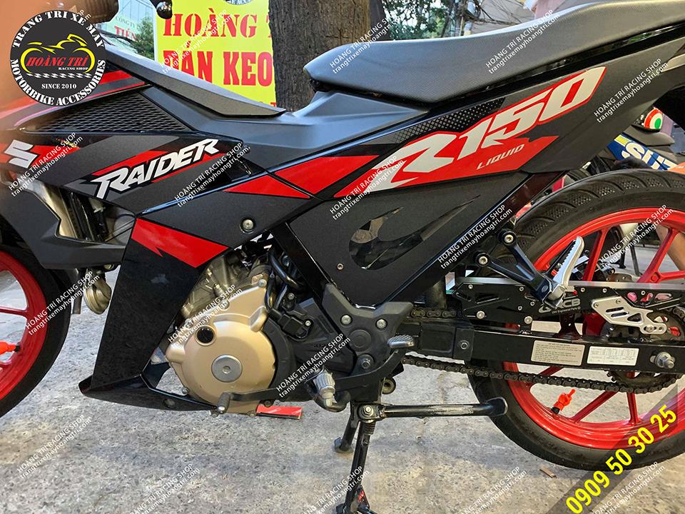 Che sên Racing Boy đã được lắp trên Raider