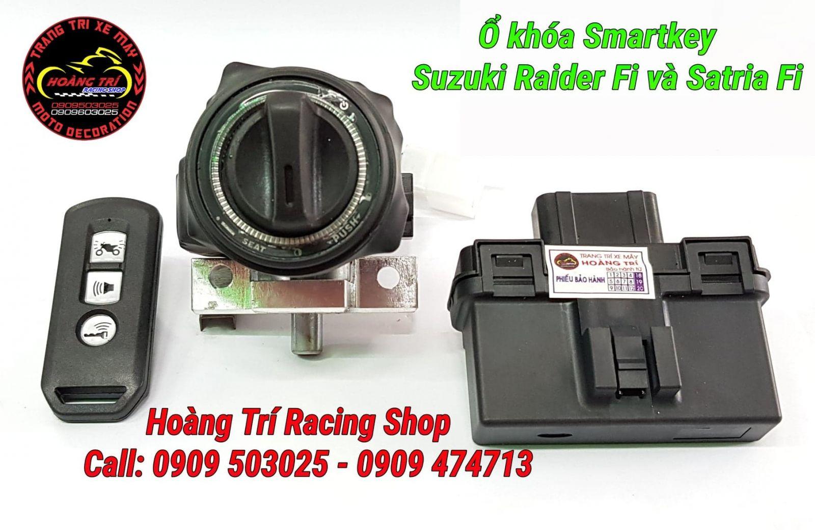 Cận cảnh các phụ kiện lắp đặt khóa thông minh cho xe Raider Fi và Satria Fi