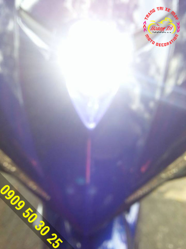 Độ đèn L4 trợ sang cho xe Ex 150 5