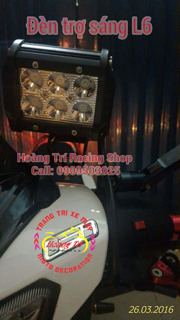 Cận cảnh đèn LED L6 gắn tại ốc kính chiếu hậu