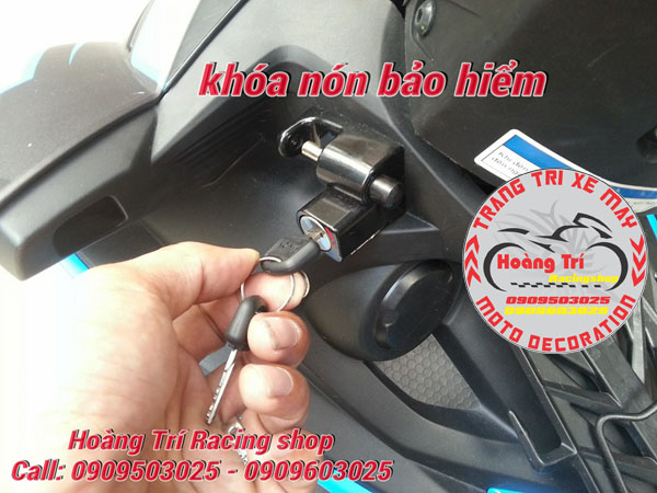 Mở khóa cho ổ khóa chống mất nón bảo hiểm