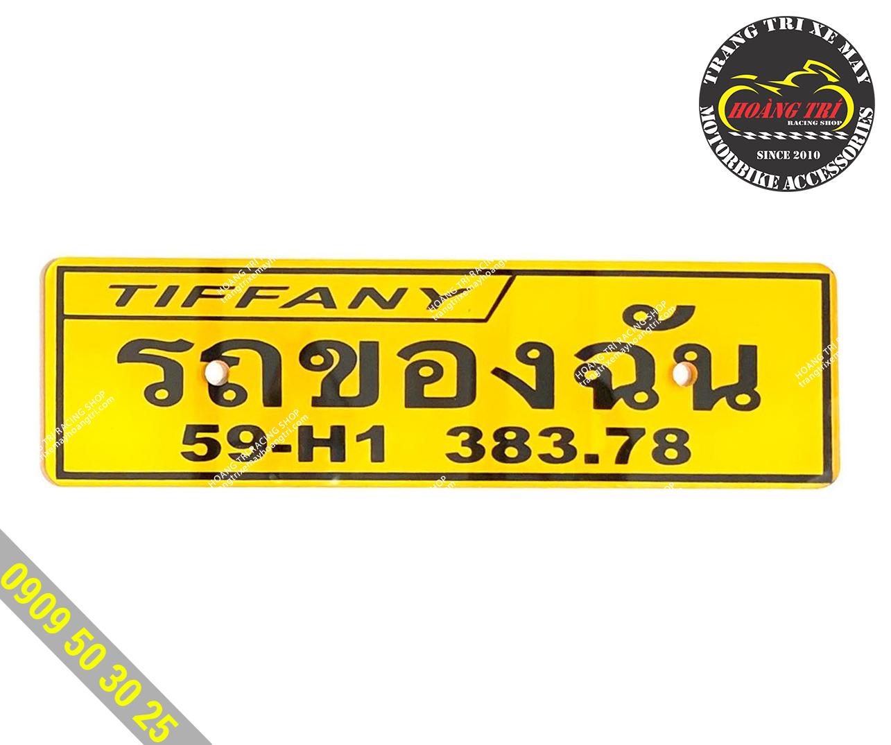 Thêm một mẫu bảng tên chữ Thái theo yêu cầu khách hàng