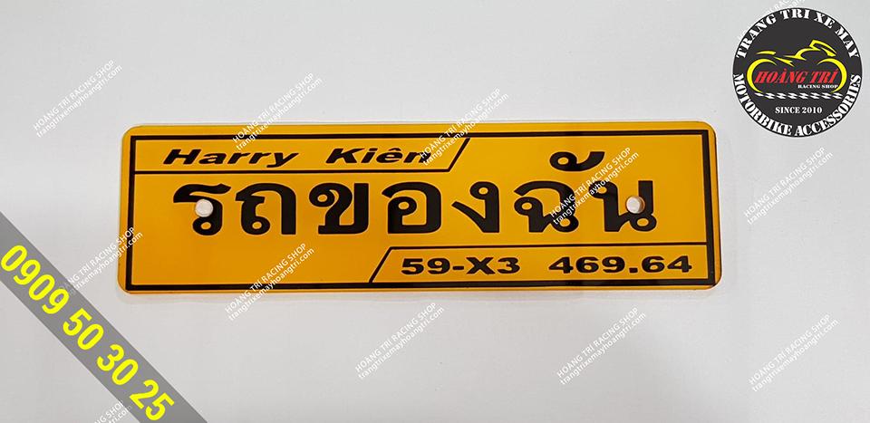 Bảng tên Vario chữ Thái Lan làm theo yêu cầu của khách hàng