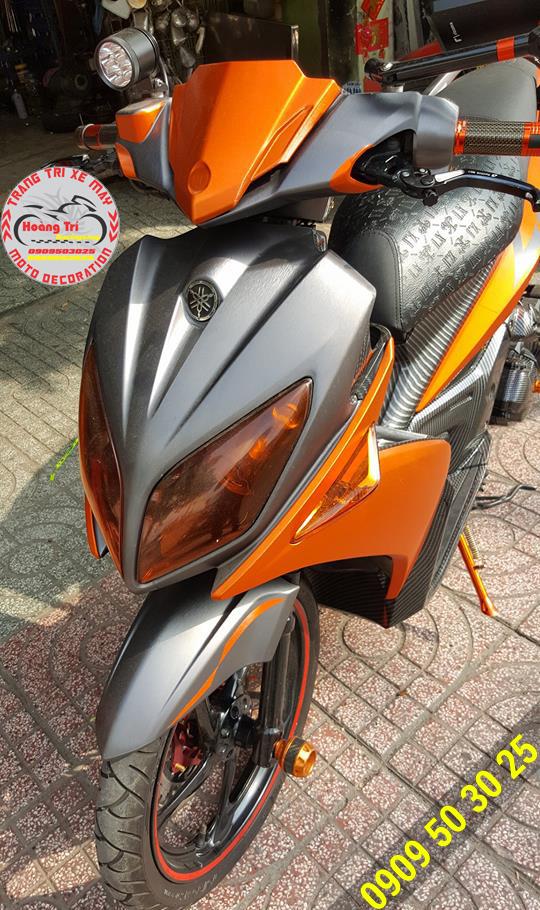 Màu sắc mới của decal nhôm xước tại Hoàng Trí Racing Shop - sắc cam nổi bật