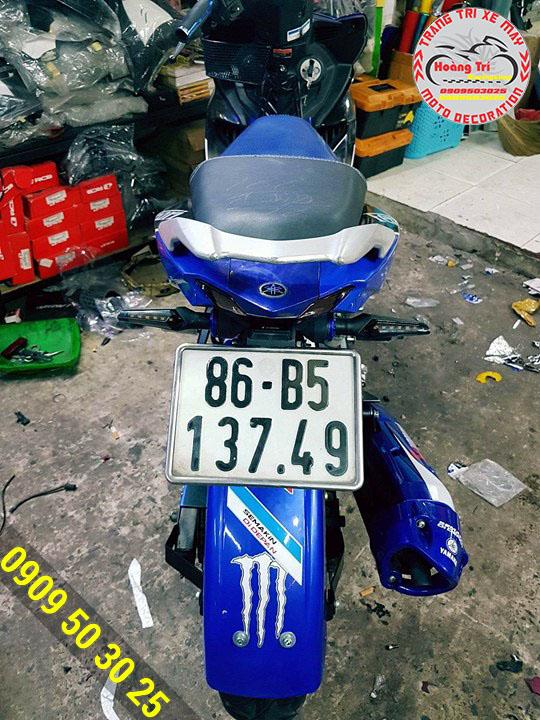 Si nhan Spirit Beast led 2 chiều được gắn cho Exciter 150
