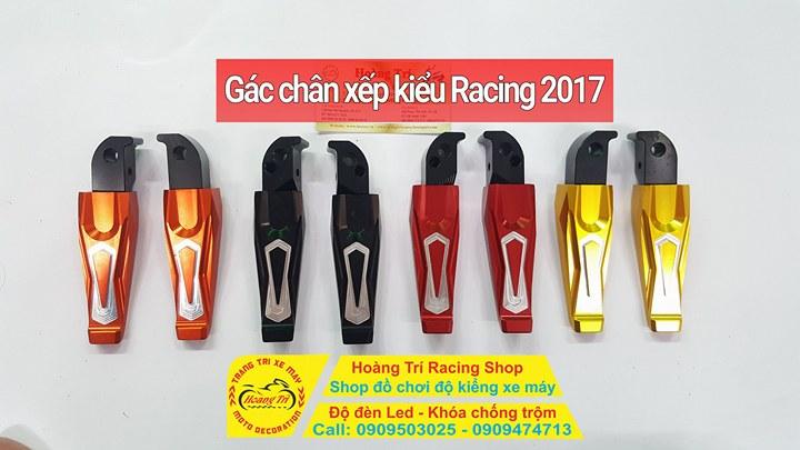 Hình ảnh gác chân kiểu Racing với nhiều màu sắc