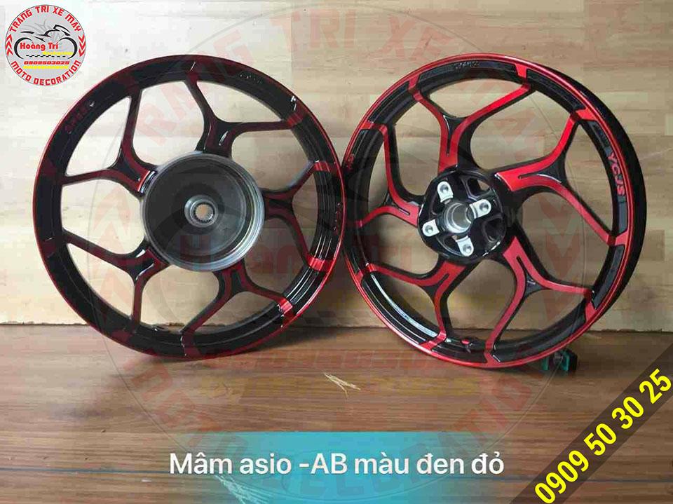 Mâm asio Airblade màu đen đỏ