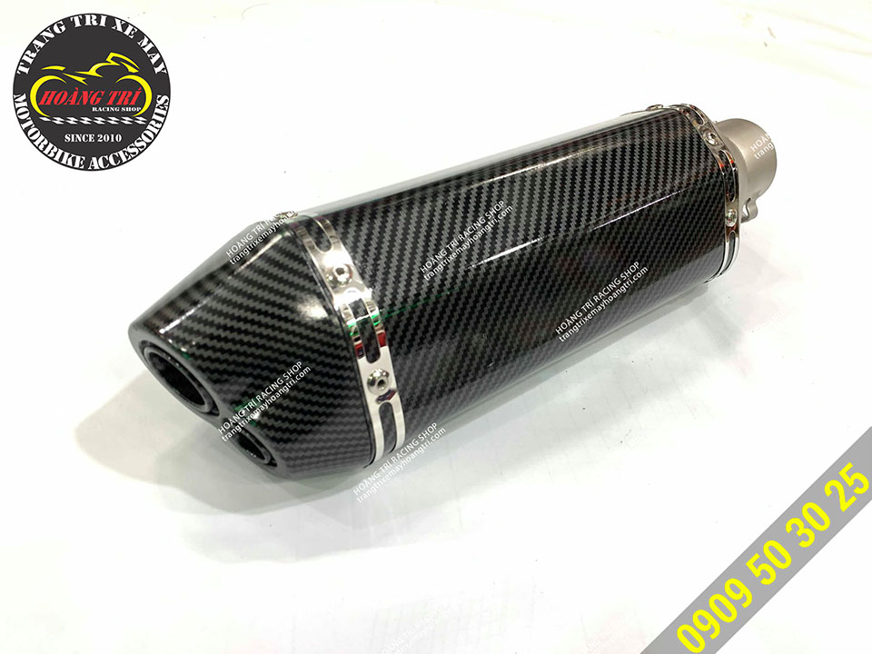 Pô Akrapovic 2 nòng full carbon