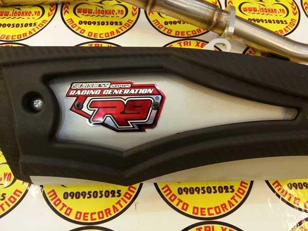 Cận cảnh pô R9 chính hãng tại Hoàng Trí Racing Shop
