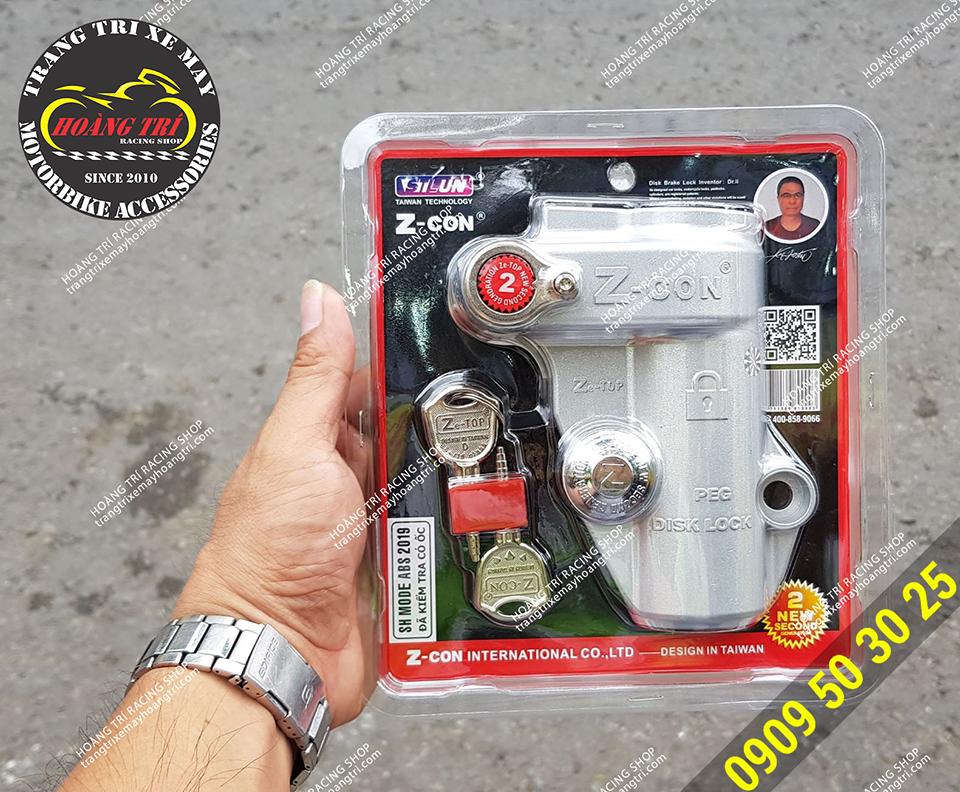 Mặt trước khóa đĩa trước SH Mode kèm theo 2 chìa khóa