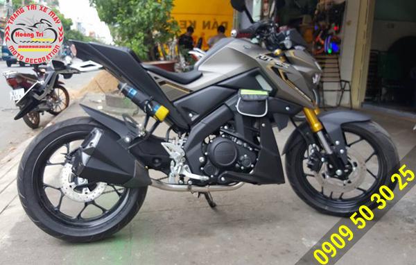 Pô Z-1000 được lắp trên Yamaha TFX