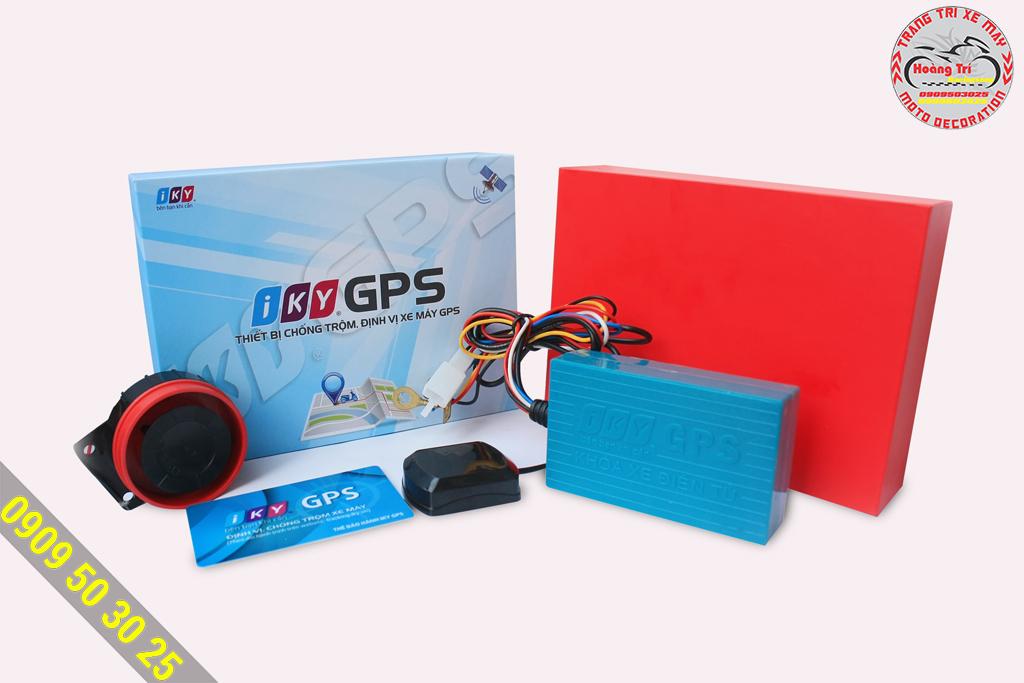 Trọn bộ phụ kiện của Iky GPS được sản xuất tại Việt Nam