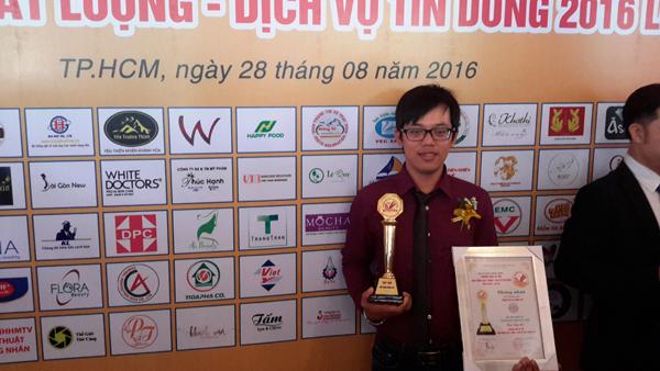 Hoàng Trí đạt TOP 100 thương hiệu uy tín năm 2016 2