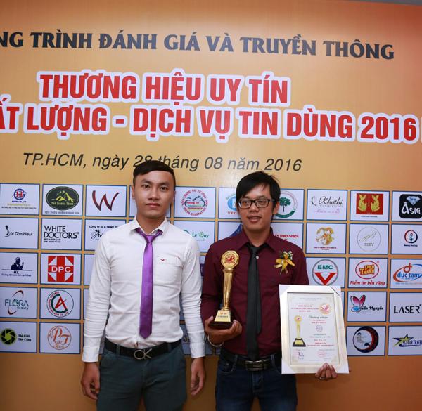 Hoàng Trí đạt TOP 100 thương hiệu uy tín năm 2016 3