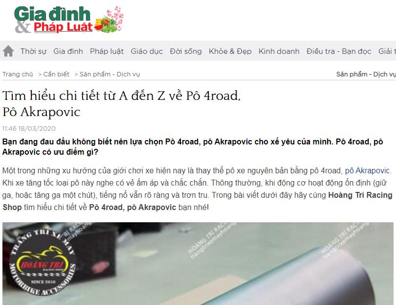 Zing, VNExpress, Dân Trí, 24h, Gia đình & Pháp luật nói về Hoàng Trí Shop