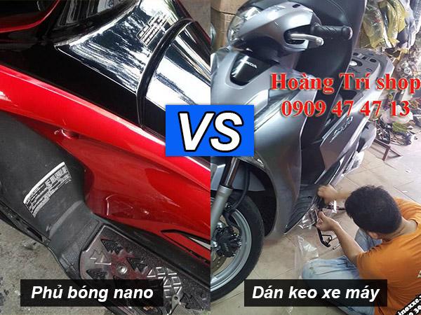 Dán keo xe vs phủ bóng nano