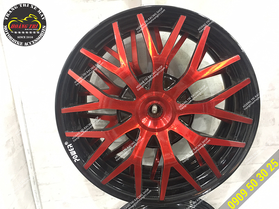Thêm một mẫu mâm Power màu đỏ đẹp mắt và độc đáo