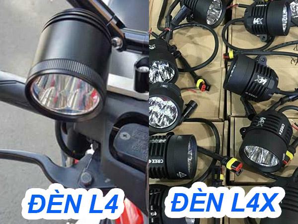 Thiết kế của đèn l4 và đèn l4x