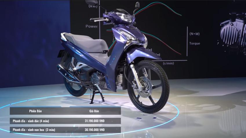 Giá bán của xe Future 2018 của 2 phiên bản.